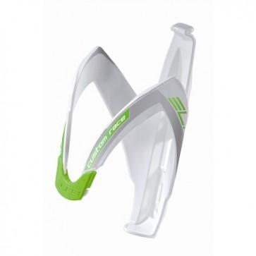 ELITE Flaschenhalter CUSTOM RACE WHITE/ACID GREEN 2012 weiß mit grüner Grafik