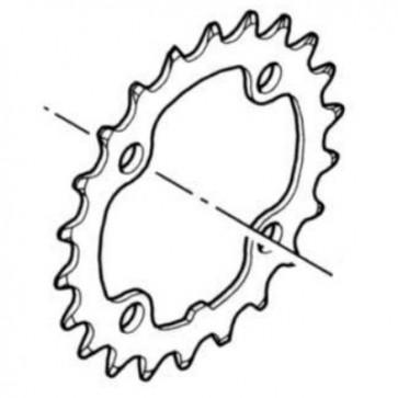 Shimano Kettenblatt Deore FC-M532 22 Z., 4-Arm, 9-fach, Lochkr. 64 mm