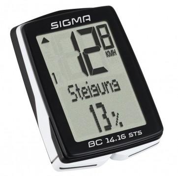 SIGMA Fahrradcomputer BC 14.16/STS/CAD sts kabellos mit Trittfrequenz