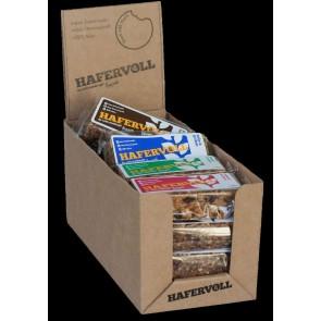 Hafervoll Müsliriegel Flapjacks 20er MIX-Box 4 Sorten je 5-Riegel Mandel-R