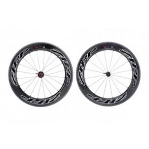 H-Rad Zipp 808 Firecrest Tubular 700C Carbon schwarz/Dekor schwarz/Campa