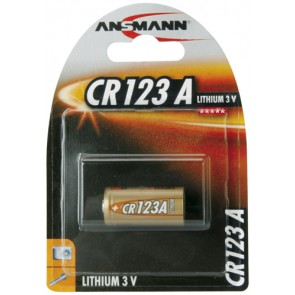 Batterie Lithium CR123A ANSMANN