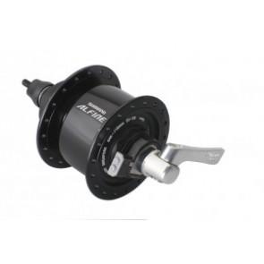 VR-Nabendynamo Shimano Alfine DHS501 100mm, 36 Loch, schwarz, Centerlock,SNSP
