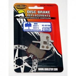 Kool Stop Bremsbelag DISC BRAKE AVID Juicy Aluminium Trägerplatte 1 Paar