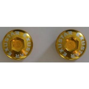 EXUSTAR, Pedale Zubehör, Staubkappen für E-PM-28Ti, Farbe gold, VE= 2 St