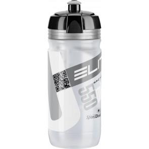 ELITE Trinkflasche CORSA CLEAR Logo silber 550ml