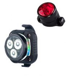 Azonic Beleuchtung Lichtset weiss + rot HOP SING USB Paar schwarz Achtung: