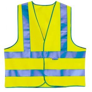 Sicherheitsweste -M- gelb, 4 Streifen 3M-Reflex