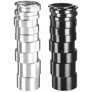 "Spacer 1 1/8"" Alu ""Ergotec"" Höhe: 5 mm silber"
