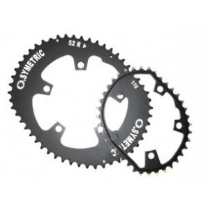 Kettenblatt Kit Osymetric 110mm Standard für Rennrad 52/38 Zähne schwarz