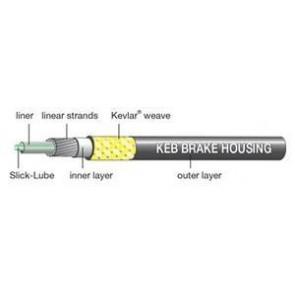 JAGWIRE Bremsaußenhülle KEB-SL schwarz Kevlar-verstärkt Slick-Lube 10m-R