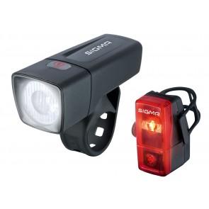 Sigma Sport Beleuchtungsset AURA 25 / CUBIC VL+RL