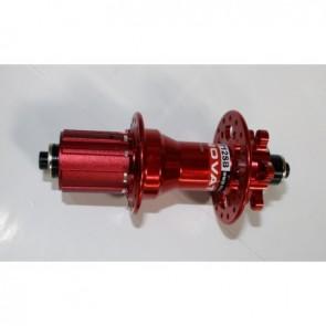 Novatec Naben MTB Disc Superlight Hinterrad 32-Loch rot eloxiert Einbaubrei