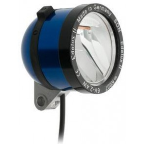 SCHMIDT 'Edelux II' Scheinwerfer BLAU 90 Lux 140cm Koax-Kabel nicht konfekt