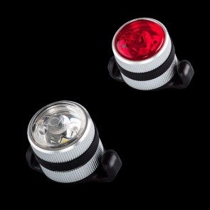 Azonic Beleuchtung Lichtset weiss + rot SULU USB Paar silber Achtung: Azoni