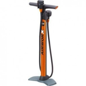 SKS Pumpen Standpumpe AIRWORX 10.0 orange mit oben liegendem Manometer max.