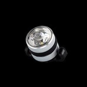 Azonic Beleuchtung LED weiss SULU USB front silber CNC-gefrästes Alu-Gehä