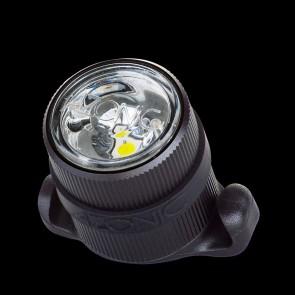 Azonic Beleuchtung LED weiss SULU USB front schwarz CNC-gefrästes Alu-Geh