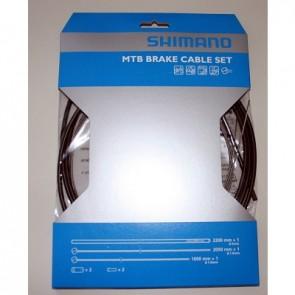 Shimano Bremszugset vorn & hinten MTB schwarz Zughüllen M-System: 5mm x 22