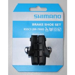 Shimano Bremsbelag Race DURA ACE komplettes Bremsschuhpaar 10-fach mit Schrauben