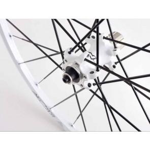 """Azonic Outcast Laufradsatz 26"""" Weiß/Schwarz (135mm)"""