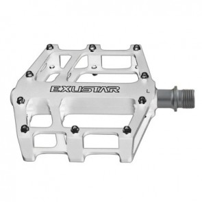 EXUSTAR, Pedale, MTB/BMX, E-PB525, weiß, Plattformpedal, CNC Alu-Käfig, C