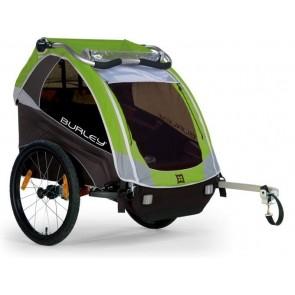 Fahrrad-Kinder-Anhänger Burley D`Lite Modell 2016 grün