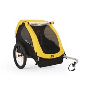 Fahrrad-Kinder-Anhänger Burley Bee Modell 2016 gelb (reiner Radanhänger)