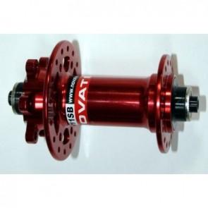 Novatec Naben MTB Disc Superlight Vorderrad 32-Loch rot eloxiert Einbaubrei