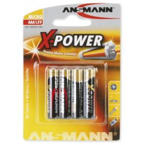 Batterien X-Power Alkaline 15 V ANSMANN Typ AAA Micro LR03 15 V