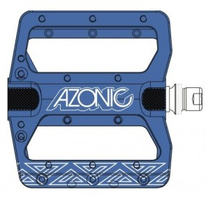 Azonic, Pedale, MTB, Pucker Up Pedal, blau, robustes DH- und AM Pedal, CNC