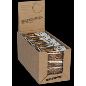 Hafervoll Müsliriegel Flapjacks Kakao-Haselnuss 20-stück im Karton je Rie
