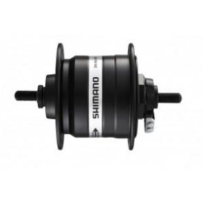 VR-Nabendynamo Shimano DH3N31DLG 100mm, 36 Loch, schwarz, Vollachse