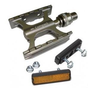 MKS 'Compact Ezy' Clip-On Sportped. 302g einteilig CNC gedichtet + Reflekto