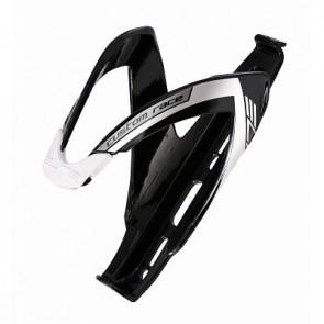 ELITE Flaschenhalter CUSTOM RACE BLACK 2012 schwarz glänzend mit weisser Grafik