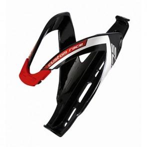 ELITE Flaschenhalter CUSTOM RACE BLACK 2012 schwarz glänzend mit roter Grafik