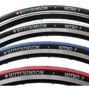 """Hutchinson Rennrad Reifen Nitro 2 Draht 28"""" 700x23C schwarz/weiß"""