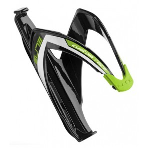 ELITE Flaschenhalter CUSTOM RACE Composite Material schwarz glänzend grün