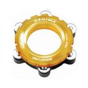 Ashima Adapter Disc Brake AC03 für Steckachsen QR 15/20mm von Center Lock