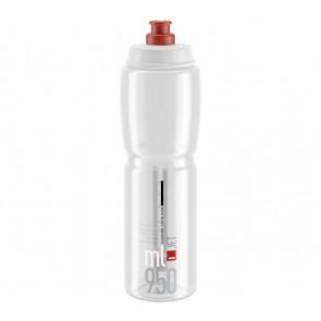 ELITE Trinkflasche JET transparent rotes Logo 950ml Durchmesser: 74mm Mater