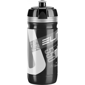 ELITE Trinkflasche CORSA BLACK Logo silber 550ml