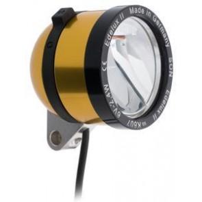 SCHMIDT 'Edelux II' Scheinwerfer GOLD 90 Lux 140cm Koax-Kabel nicht konfekt