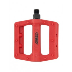 Azonic, Pedale, MTB, Shoo-In Pedal, rot, Flatpedal aus glasfaserverstärkte