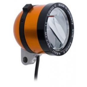 SCHMIDT 'Edelux II' Scheinwerfer ORANGE 90 Lux 36cm Koax-Kabel einbaufertig
