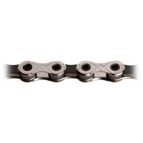 KMC, Kette, X-9 VIVID BLACK, für 9-fach, silber-schwarz, 116 Glieder, für