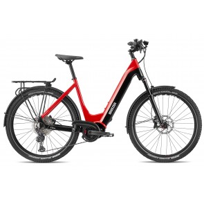 Breezer POWERWOLF EVO 1.1+ SM LS E-bike Vinyl Rot/ Schwarz