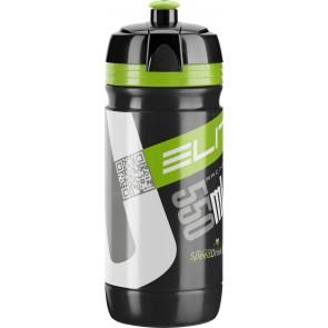 ELITE Trinkflasche CORSA BLACK Logo grün 550ml