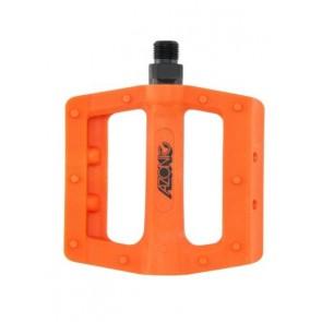 Azonic, Pedale, MTB, Shoo-In Pedal, orange, Flatpedal aus glasfaserverstär