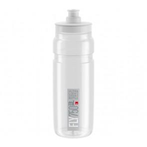 ELITE Trinkflasche FLY transparent graues Logo 750ml Durchmesser: 74mm