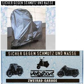 Faltgarage Abdeckplane fürs Fahrrad PVC extra dick grau Gummizugsaum, 185x80x70